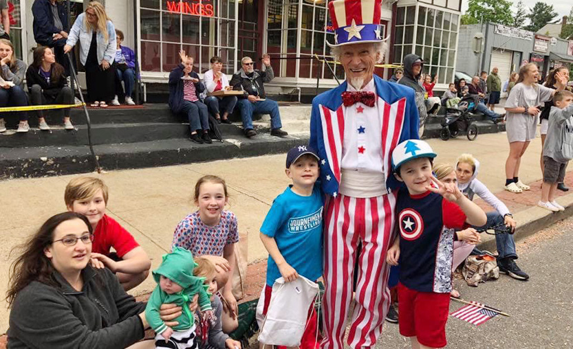 Uncle Sam talks to families