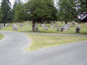 road at a cemetery