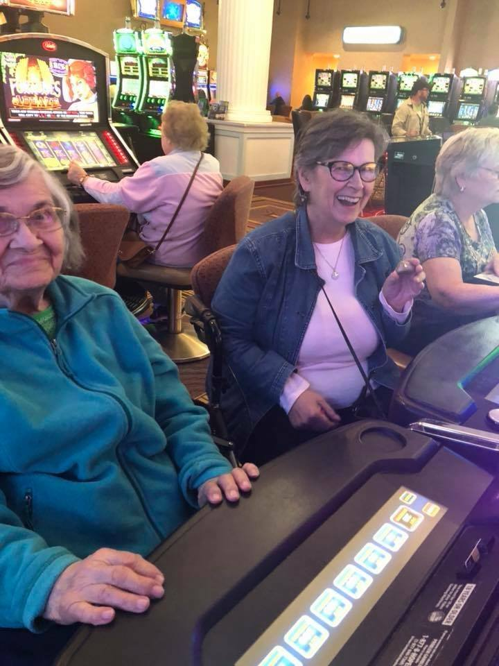 ladies at slot machines
