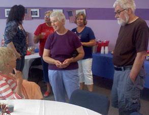 seniors visit together
