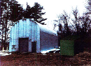 old rusty barn building