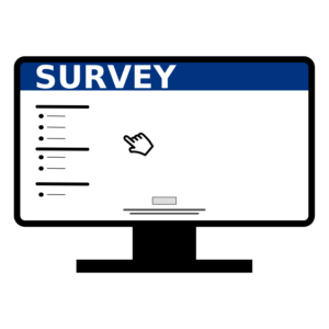 computer graphic with survey written on top